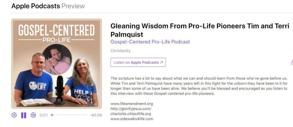 Gospel-centered pro-life podcast